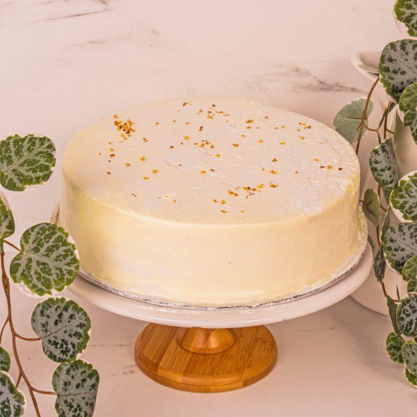 yuzu citrus osmanthus cake by mori cakes