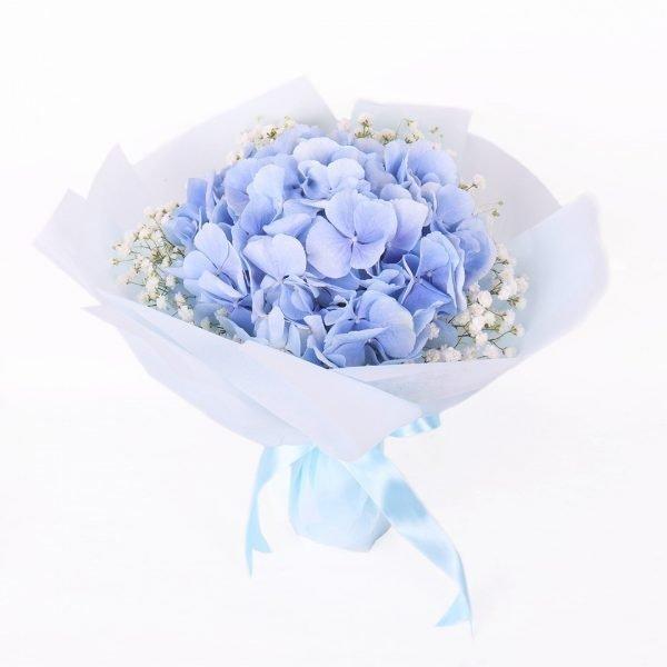 Mcguire Blue Hydrangea Bouquet