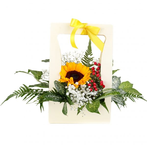 sunflower bloom box by farm florist