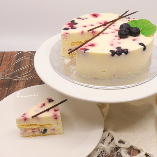 Blueberry Raspberry Cream Cake