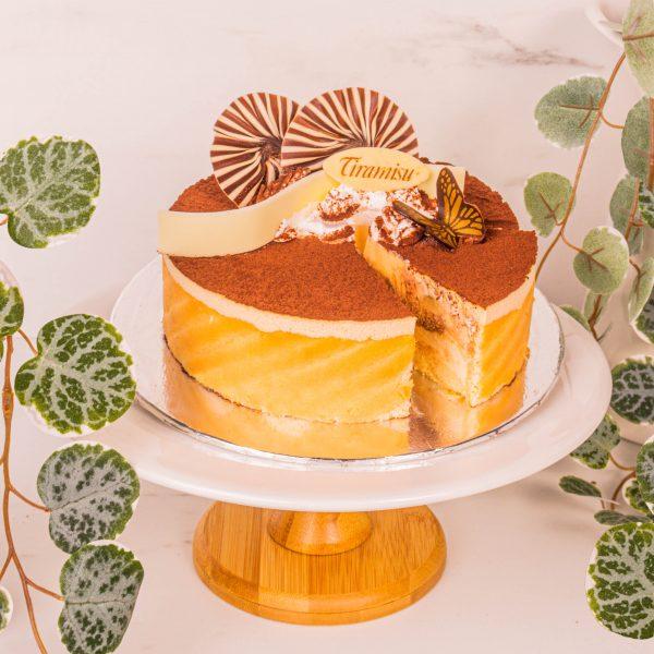 classic tiramisu sliced by mori cakes