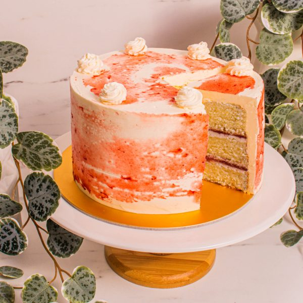 Strawberries and Cream Sliced by Cakedelivery.sg
