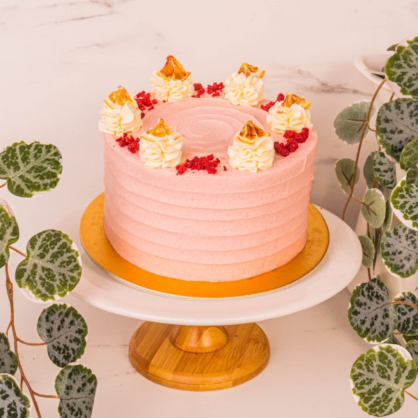 Strawberry Grapefruit Cake by mori cakes