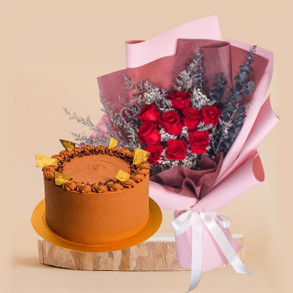 Queen of Hearts Mother's Day Bundle by mori cake delivery