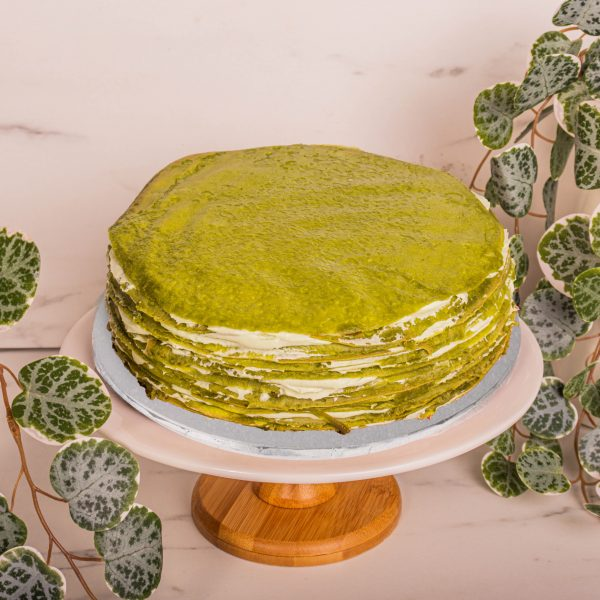 Matcha Mille Crepe by mori cakes