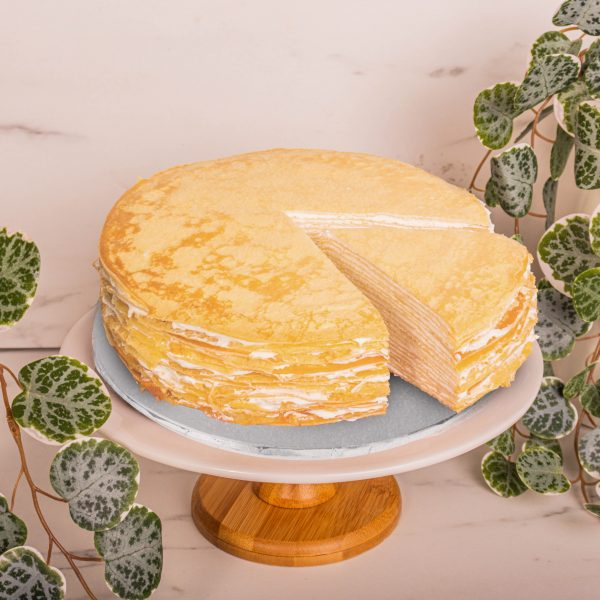 Original Mille Crepe sliced by mori cakes